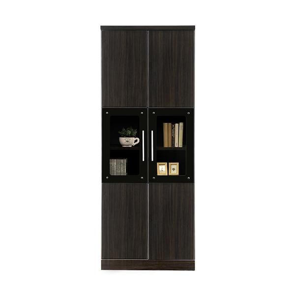 リビングボード フリーボード 日本製 本棚 完成品 収納家具 木製 書棚 国産 おしゃれ シンプル 棚板可動式 開き扉 キャビネット 幅70cm