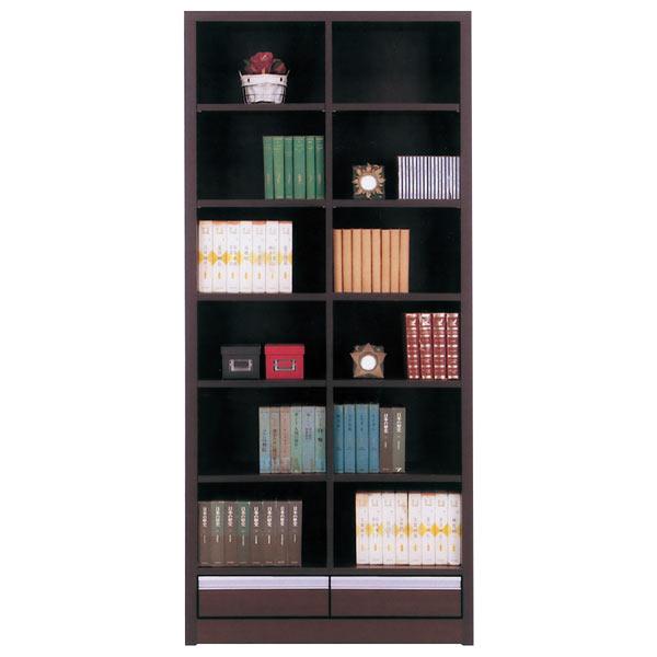 本棚 書棚 本収納 収納家具 幅83cm 完成品 国産 おしゃれ 引き出し付き