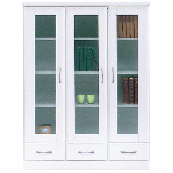 書棚 本収納 本棚 ミドルボード 収納家具 木製 幅90cm 完成品 国産 白 鏡面 おしゃれ