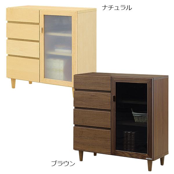 キャビネット リビングボード シンプル 収納家具 リビング収納 サイドキャビネット 幅80cm 日本製 国産 北欧 木製