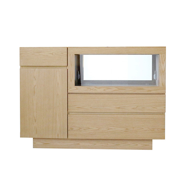 リビングボード サイドボード シンプル 幅120cm キャビネット 木製 照明付き ディスプレイ 収納家具 完成品 収納ボード
