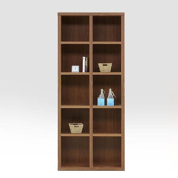 オープンラック 本棚 完成品 収納ラック 幅75cm 木製 リビング収納 ハイタイプ ディスプレイ 棚 日本製 国産 モダン