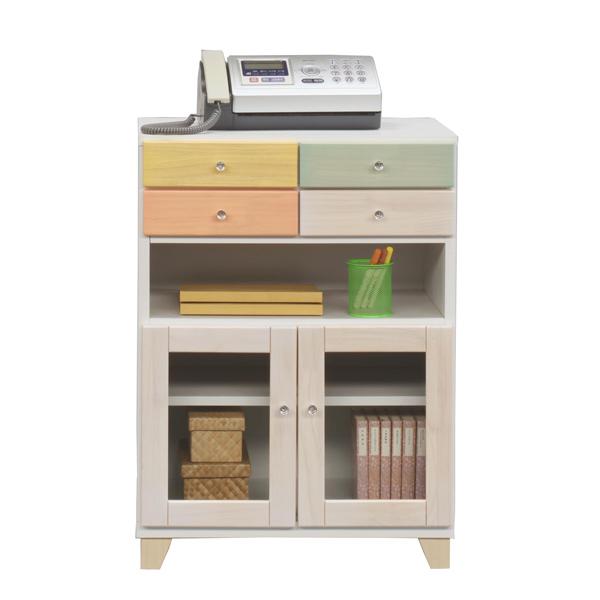 電話台 ファックス台 TEL台 FAX台 木製 モダン 引き出し 幅60cm 収納家具 完成品 日本製 シンプル おしゃれ