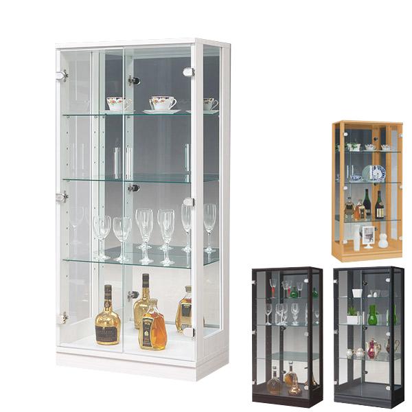 コレクションケース コレクションボード キュリオケース ディスプレイラック ディスプレイ 飾り棚 幅60cm フィギュアラック モダン 完成品 ガラス