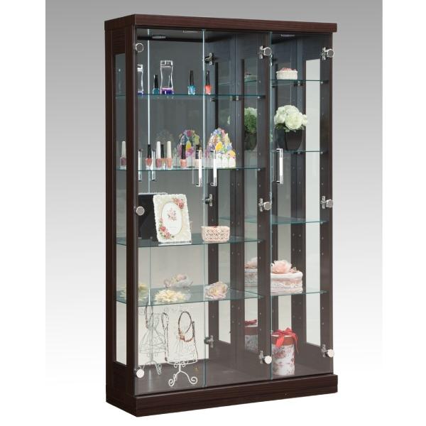 コレクションボード コレクションケース キャビネット 幅90cm ガラスケース モダン LEDライト おしゃれ ディスプレイ収納 完成品