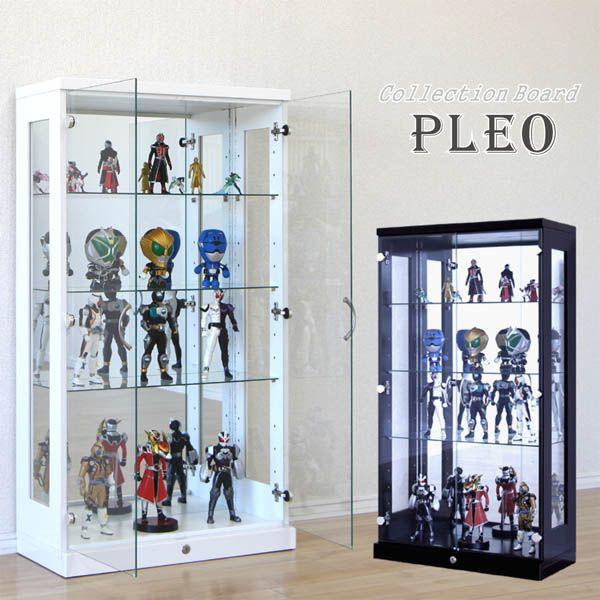 コレクションケース コレクションボード キュリオケース ディスプレイ 飾り棚 LED フィギュアラック 鍵付