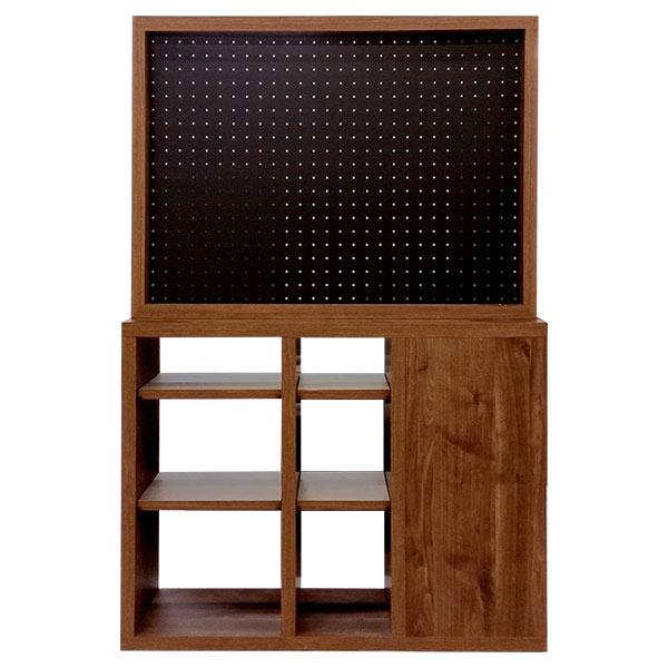 オープンラック フリーボード 飾り棚 間仕切り 収納家具 リビング収納 小物収納 木製 シンプル おしゃれ 北欧モダン