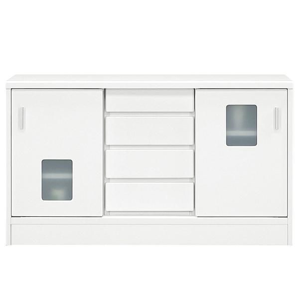 サイドボード キャビネット 幅120cm 白 リビングボード 完成品 収納家具 リビング収納 シンプル おしゃれ モダン 収納棚 背面化粧仕上げ 送料無料