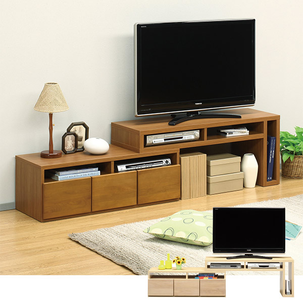 テレビ台 テレビボード TV台 TVボード 木製 リビングボード 日本製 伸縮 幅120cm 幅210cm 変形 国産 リビング収納 AV機器収納 完成品 収納家具 シンプル モダン 送料無料