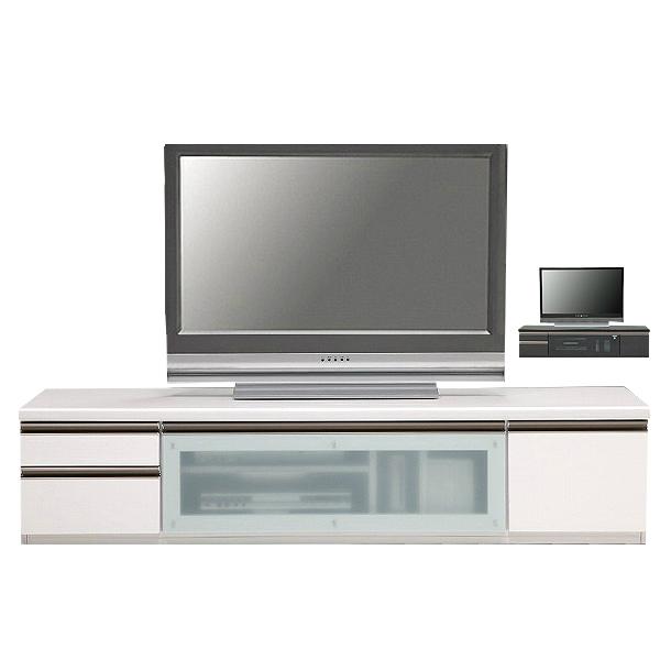 テレビボード テレビ台 ローボード 完成品 幅180cm TV台 TVボード AVボード AV収納 ロータイプ おしゃれ 白 強化ガラス 送料無料