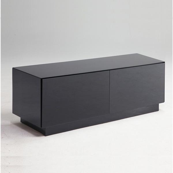 テレビボード テレビ台 TVボード 幅120cm おしゃれ リビング収納 木製 ロータイプ ローボード AV機器収納 おしゃれ シンプル 鏡面 強化ガラス 黒 完成品