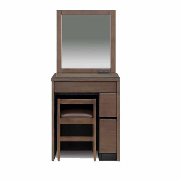 ドレッサー 化粧台 鏡台 化粧品収納 1面鏡 ミラー 幅60cm 収納付き 木製 シンプル おしゃれ
