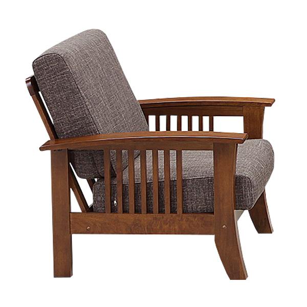 1Pソファ ソファ 1人掛け ファブリックソファ 幅71cm ソファー 一人掛け 椅子 チェア 肘掛け付き 肘付き 布 木製 和風 モダン 木製