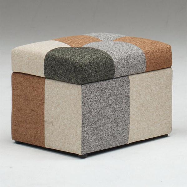 スツール オットマン おしゃれ 椅子 ファブリック カラフル 一人用 ソファ いす 1人掛け 足置き 収納付き ボックス かわいい モダン