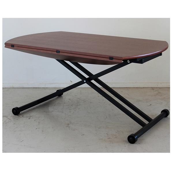 リフティングテーブル 昇降式テーブル テーブル リビングテーブル 座卓 幅120cm 木製 高さ調節 シンプル おしゃれ