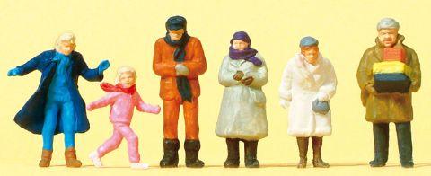 プライザー/フィギュア/HO人形/人物 preiserプライザー14037 冬服姿の歩行者【HO人形】【塗装済み】【ジオラマ小物】【ネコポス可】