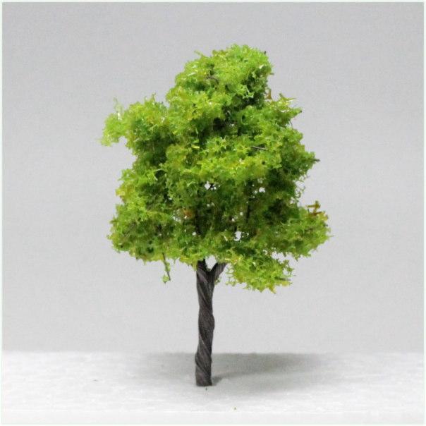 樹木模型 植栽 送料無料新品 建築模型 広葉樹 鉄道模型 公式ショップ 樹木 丸型 5本セット 模型植栽広葉樹C 80~90mm 黄緑 通販
