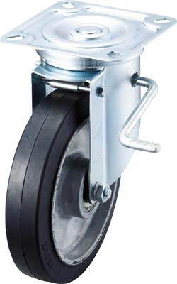 エアーキャスター ASHG-200AWDS 200φ アルミホイルゴム(B入)車イノアック車輪 自在車ストッパー付 大重荷重タイプ