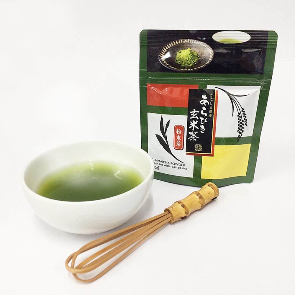 粉末緑茶 粉末茶 粉茶でお茶の栄養成分をまるごといただく 鹿児島茶100%一番茶葉と厳選玄米の見事なコラボレーション 粉茶 食べるお茶 あらびき玄米茶 30g 鹿児島産 信用 玄米茶 公式ショップ 粉末タイプ
