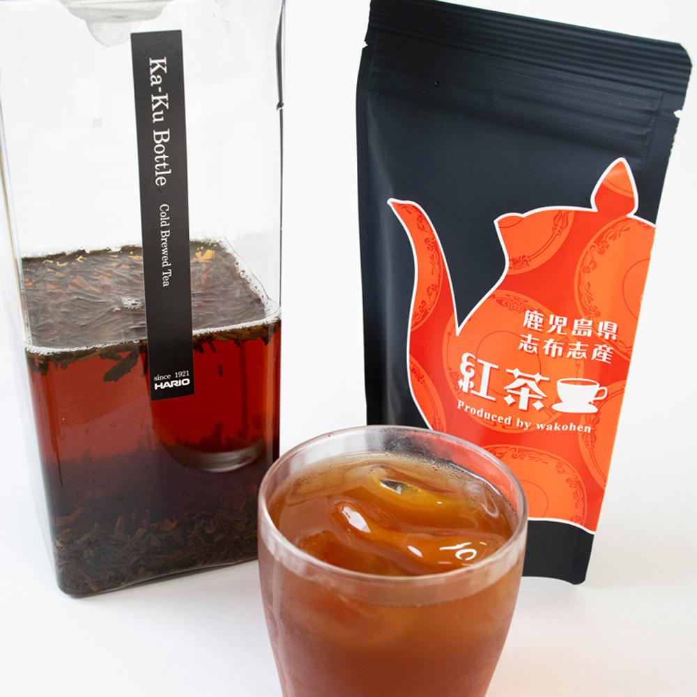 数量限定 一番茶のみ使用の優しい香りと渋味が少ない丸みのある味わいの鹿児島産紅茶 紅茶 和紅茶 50g 国内正規品 鹿児島産 リーフティー