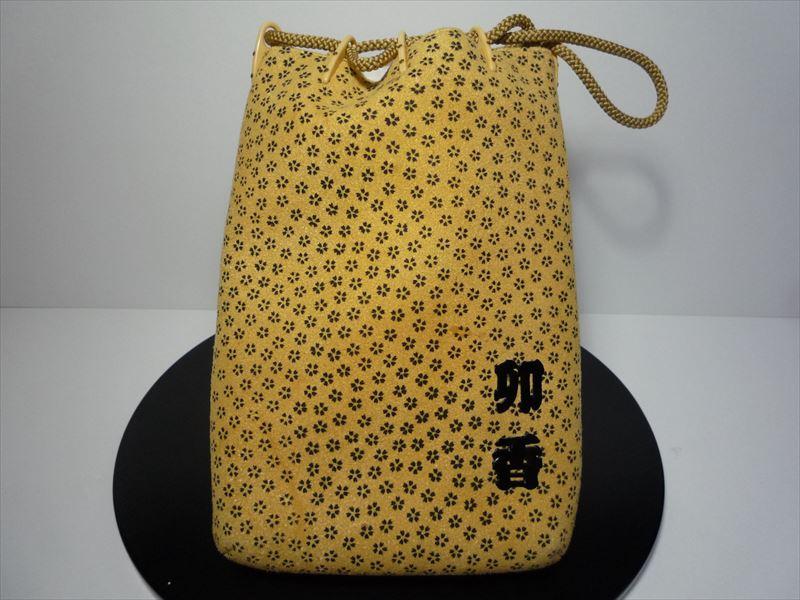 【送料無料】【職人による手作り】【和装バック】信玄袋 染皮(鹿)小桜柄裂地使用 TODO1336