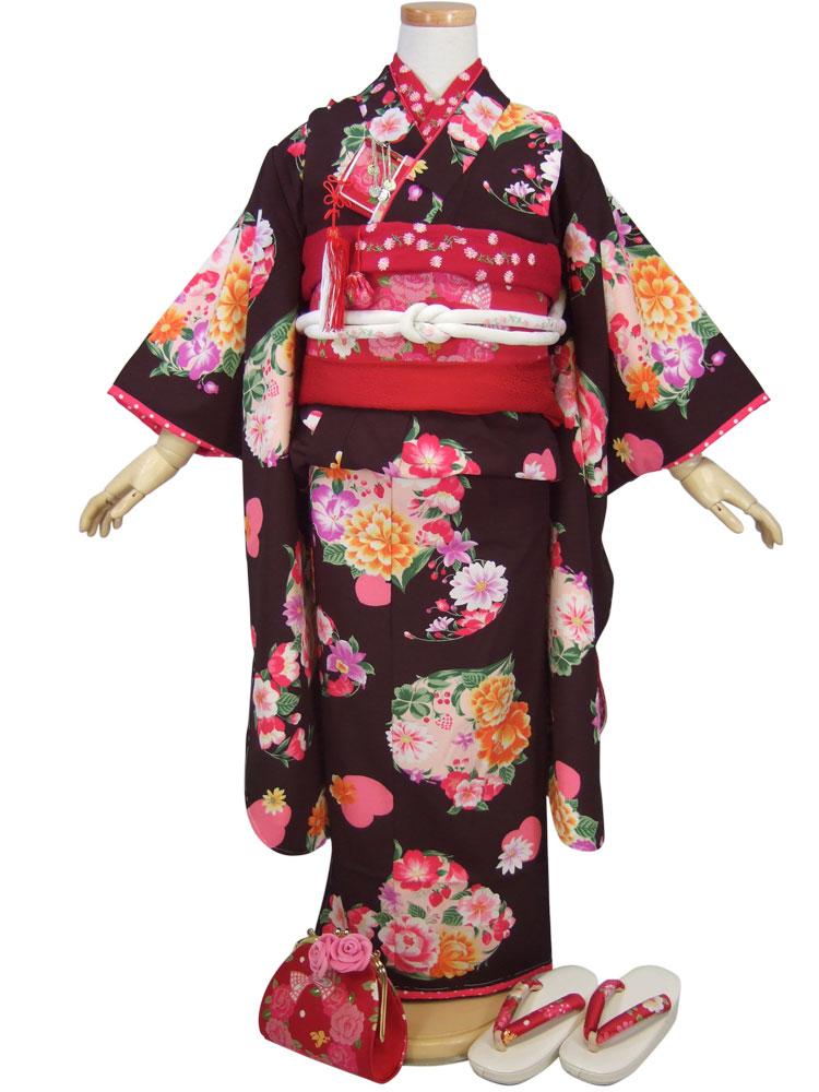 【SEIKO MATSUDA KIDS】7歳用フルセット七五三「黒地に花柄」【10P05Nov16】