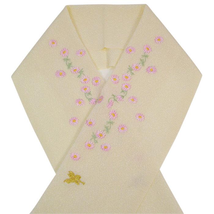 【SEIKO MATSUDA KIDS】七五三・子供半衿 「花と天使の刺繍(オフホワイト)」