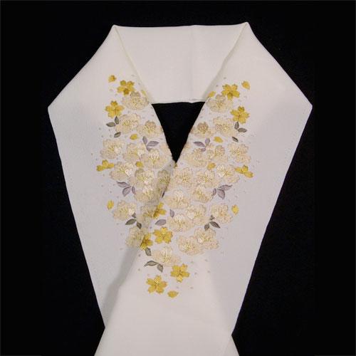 【嵐山よしむら】刺繍半衿「桜(黄色)」