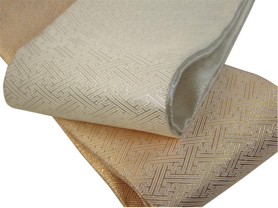 高級感のある美しい輝きです 出色 送料無料 高級正絹重ね衿 伊達衿 ゴールド 割引も実施中 佐賀錦 シルバー さや型紋様