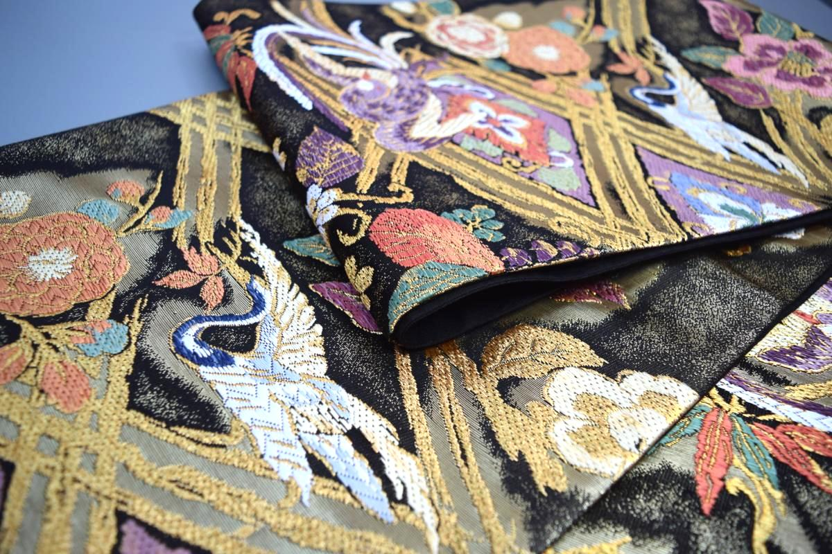 【訪問着・色無地・振袖】西陣まいづる正絹高級袋帯「菱取瑞鳥文」【10P03Dec16】