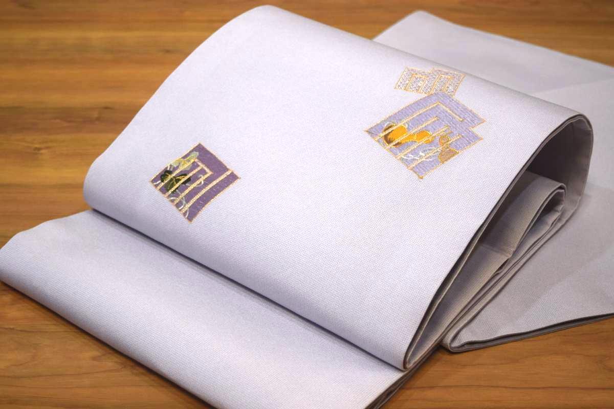正絹袋帯「お仕立上がり・源氏香にひょうたん(パープル)」, きれいみつけた:59437845 --- m2cweb.com