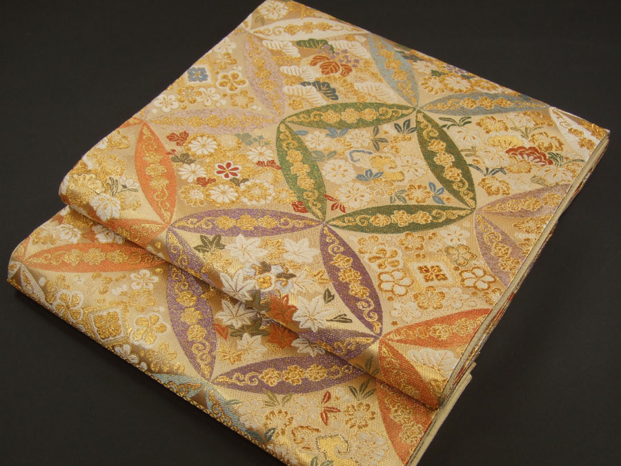 西陣織正絹袋帯「お仕立付き・七宝集」【smtb-k】【w3】【10P03Dec16】