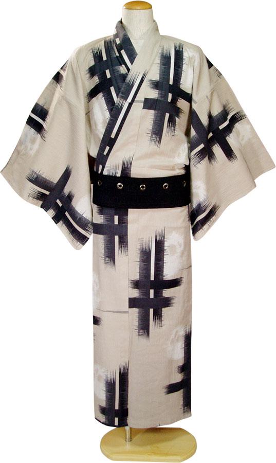 【撫松庵】男物浴衣「絣クロスに骸骨」【10P06Aug16】