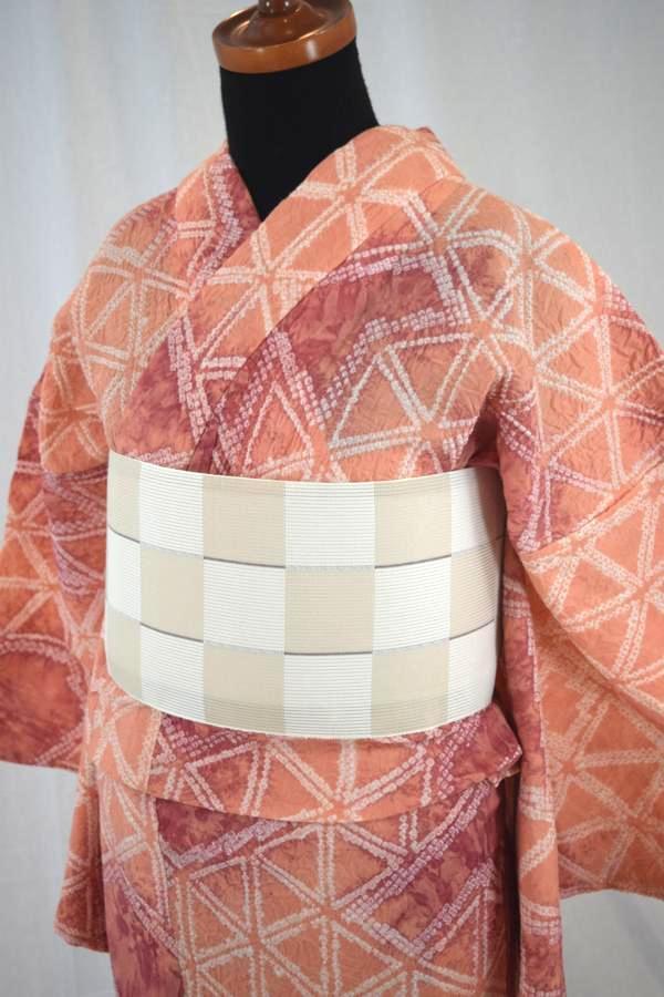 【有松鳴海絞り】仕立て上り高級絞り浴衣