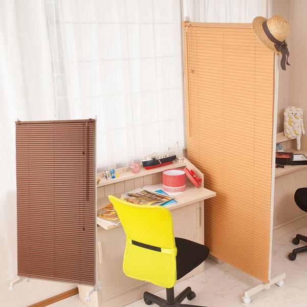 日本製 ブラインド付きパーテーション ブラインド 幅90cm シングル キャスター付き NJ-0460/NJ-0461