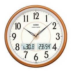 カシオ CASIO 日付曜日表示温湿度機能付き電波時計 ITM-200J-5JF(掛け時計)