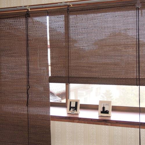 最高品質の ロールスクリーン 竹 遮熱 遮光 ロールアップシェード 日本製 幅 176×高さ180cm RC-1561W 和風 アジアン すだれ 間仕切り, 手芸と生地の店 いすず 09c423de