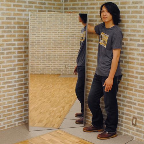 日本製 割れない鏡 軽量 安全 フィルムミラー リフェクス トール吊り式 幅85cm×高さ170cm 姿見 壁掛け スタンドミラー