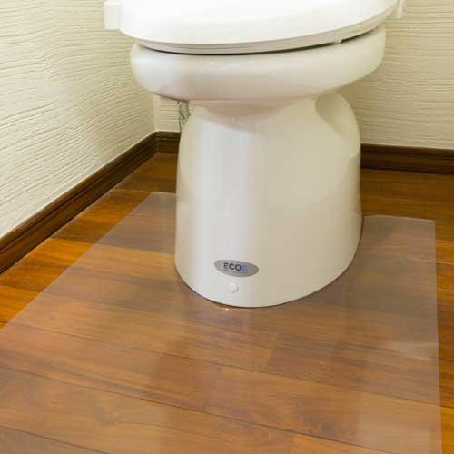 トイレマット アキレス トイレ用足元透明マット 80×140cm 日本製