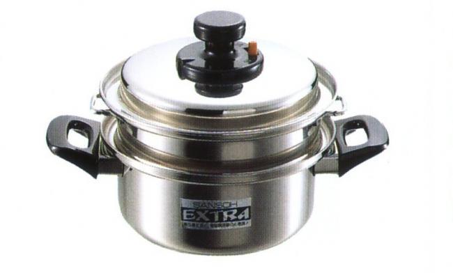 【日本製】エクストラ 両手ニ段蒸し器 18cm キッチン用品 食器 調理器具 鍋 フライパン 蒸し器 IH/ガス両方対応 霜隆器物