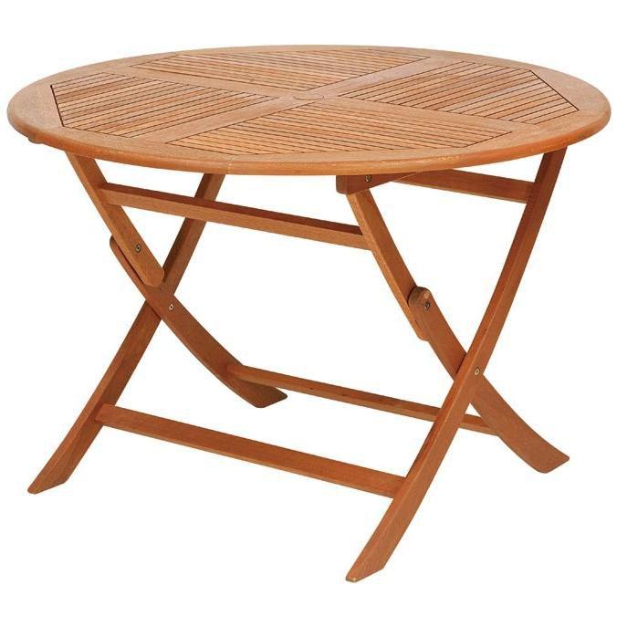 天然木ガーデンファニチャー【オルネドシエスタ】 ラウンドテーブル110cm  T-6 ハインズワーク