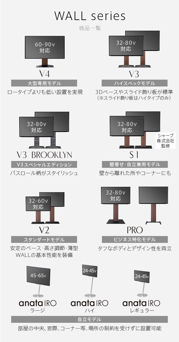 WALLインテリアテレビスタンドV3ハイタイプ