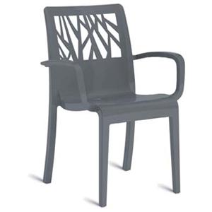 【ガーデンファニチャー】ベジタルアームチェアー(ダークグレー) お庭 や テラス でカフェ気分!高品質な タカショー の ガーデンチェアー(イス) をお求めやすい価格で!