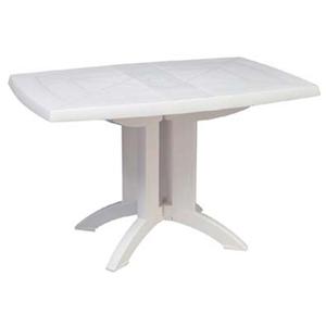 【ガーデンファニチャー】ベガテーブル(ホワイト) お庭やテラスでカフェ気分!高品質なタカショーのガーデンテーブル|ガーデン テーブル カフェテーブル 白 折りたたみテーブル 折り畳みテーブル デザイン おしゃれ ベランダ ファニチャー ガーデニング