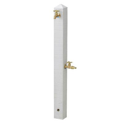 【立水栓ユニット】モ・エットL (ホワイト) お庭 や テラス におしゃれな立水栓!高品質な ニッコー の 立水栓ユニット をお求めやすい価格で!