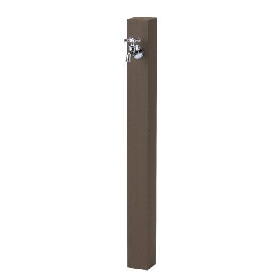 【立水栓ユニット】レヴウッドタイプ (ダークブラウン) お庭 や テラス におしゃれな立水栓!高品質な ニッコー の 立水栓ユニット をお求めやすい価格で!