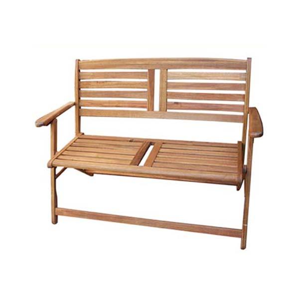 【ガーデンファニチャー】ウエストミンスター・2シート フォールディングベンチお庭 や テラス に 木製 で ナチュラル な ガーデンベンチ をお求めやすい価格で!【送料無料】