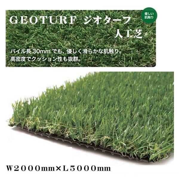 【人工芝】GEOTURF ジオターフ 2M×5M パイル長30mm 本物(天然)そっくりな 人工芝 芝生 人工芝生 ロール 高密度【送料無料】