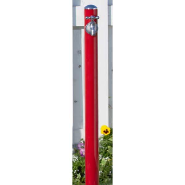 【立水栓】コルム (水栓柱+蛇口) 色:レッド1口水栓 お庭 や エントランス に シンプル で スマート な フォルム の 水栓柱 を お求めやすい価格で!【送料無料】