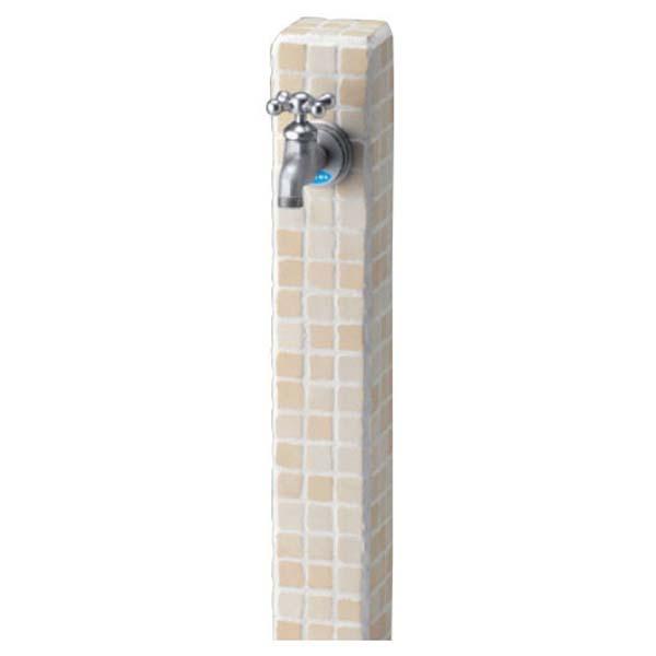 【立水栓ユニット】モゼック 色:バニラ 1口水栓 蛇口1個付き 立水栓 水栓柱 ニッコー